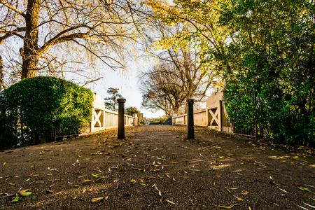 Old Walkway over a Bridge