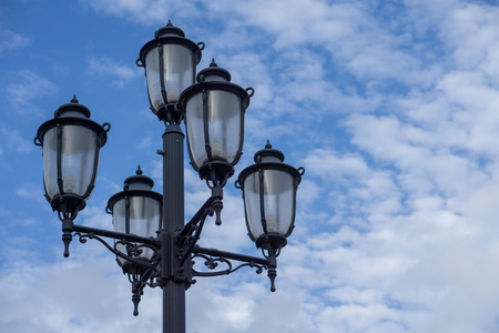 Lamp Post with Clouds
