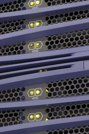 server farm: High performance rack mounted Storage.