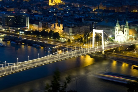 Evening landscape of Budapest, at the sunset time Stock Photo - 8489963