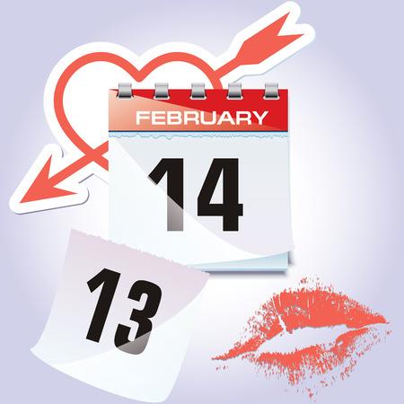 The calendar Vector