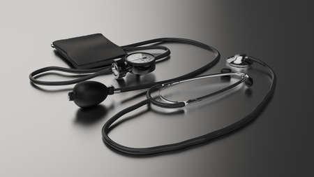 stethoscope medical device render
