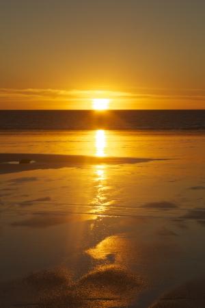 western australia: Sunset at Low tide