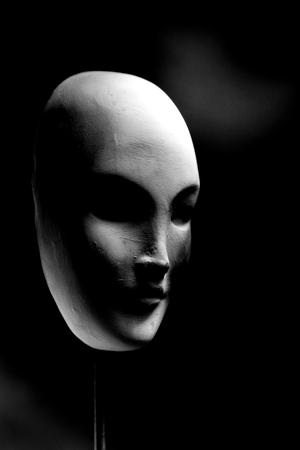 Mask on black background
