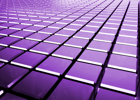 purple: glossy abstract purple background from cubes - 3D render