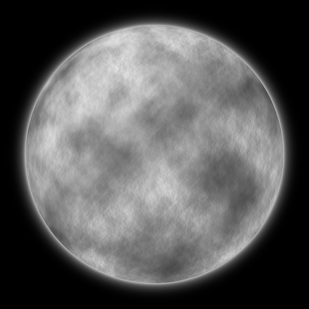 illustration of a very large moon at night - computer generated illustration