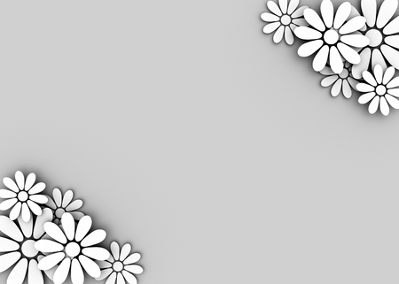 loopable: wedding floral background with place for text -3D render