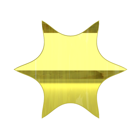 glossy gold vip zone icon - 3D render isolated on white background photo