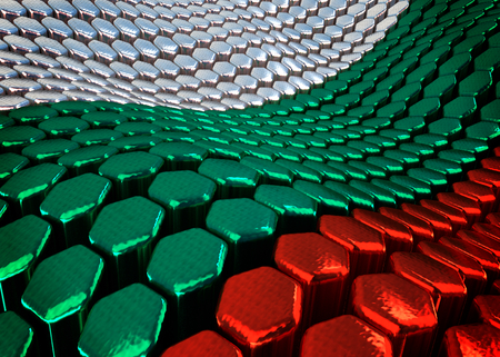 bulgarian: abstract Bulgarian background theme - 3D render Stock Photo