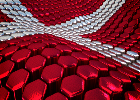 danish: abstract Danish background theme - 3D render