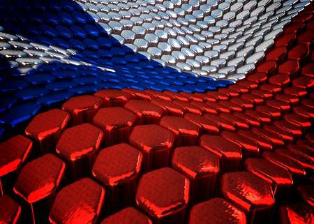 chilean: abstract Chilean background theme - 3D render