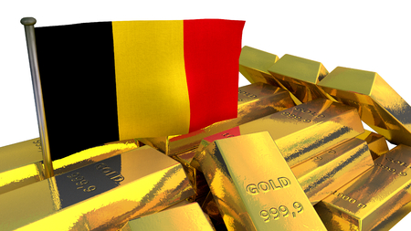 increment: national economy concept with gold bullion on white background