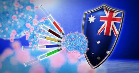 coronavirus vaccination in the Australia - 3D render