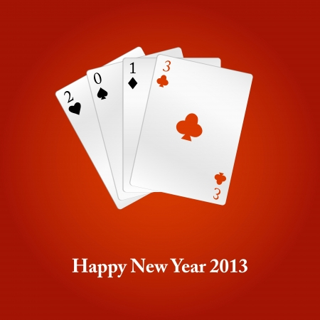 Happy New Year 2013 cards  Vector