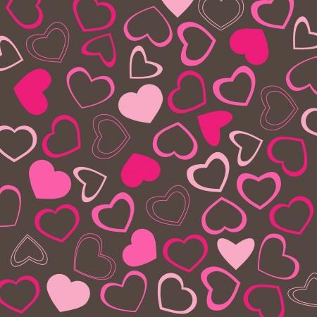 Romantic Valentine hearts background Stock Vector - 17470458