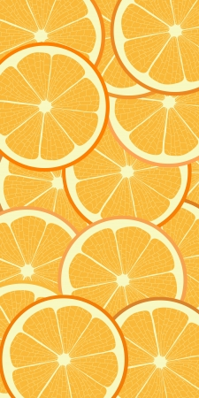 Fresh juicy orange pattern background Vector