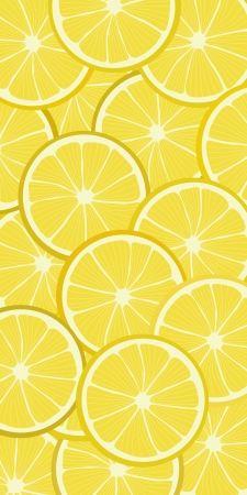 Seamless background pattern with lemon Illustration