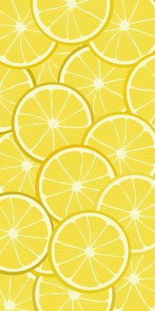 Naadloze achtergrond patroon met citroen