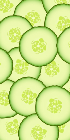 Fresh juicy cucumbers pattern background  Vector