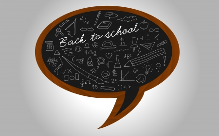 Back to school - blackboard on a wall Vector