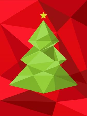 xmas tree: Christmas tree background  Vector illustration  Merry Christmas Illustration