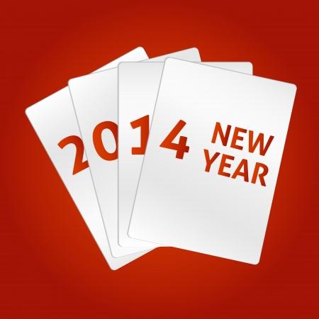 Happy New Year 2014. Vector cards Vector