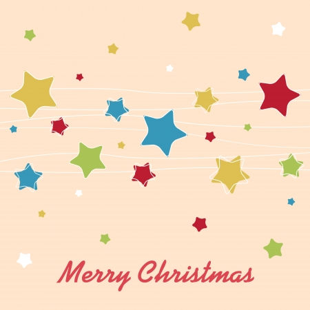 Christmas background with stars Vector