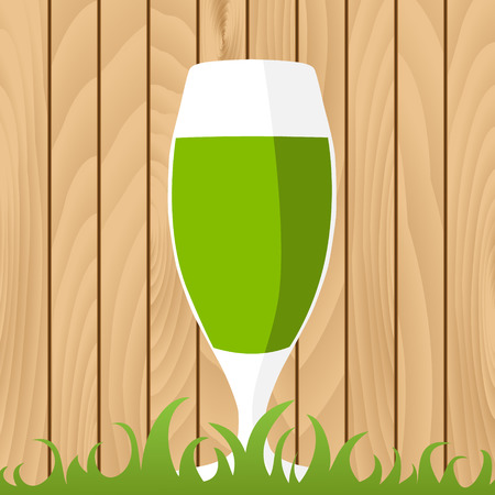 St. Patricks Day background with beer Vector