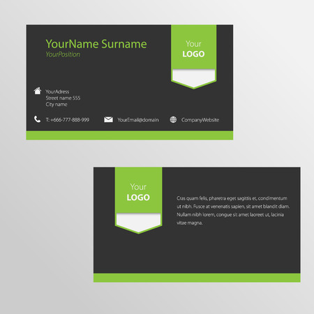 bussiness card: Modern vector bussiness card with icons