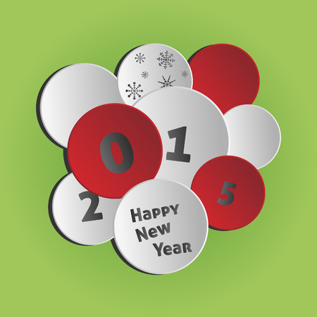 circles background - Happy New Year 2015 Vector