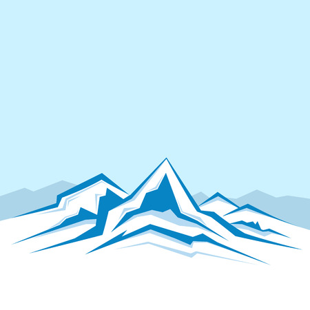 Vector of the high winter mountains Illustration