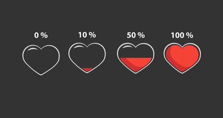 Minimal infographics Valentine hearts Illustration
