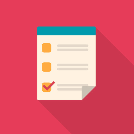checklist: Vector illustration of checklist icon. Illustration