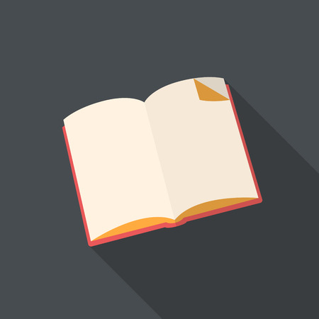 Book flat design with long shadow