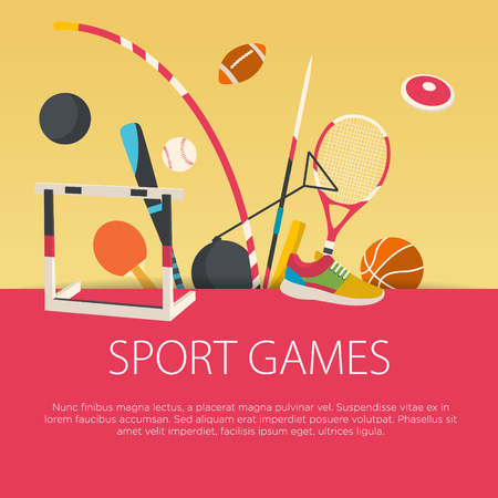 Flat design sport concept. Vector illustration. Illustration