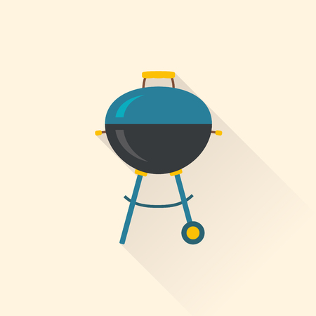 Barbecue grill. Modern flat design. Vector illustration.