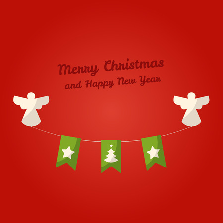 Kerst ornamenten hangen met engelen.