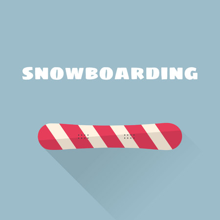 Snowboarding flat vector illustration. Vector illustration. Winter sport. Illustration