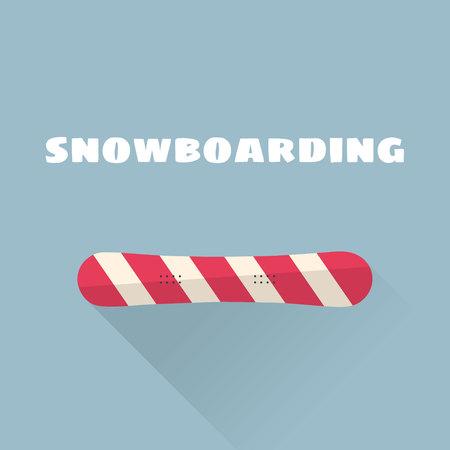 Snowboarden platte vectorillustratie. Vector illustratie. Wintersport. Stock Illustratie