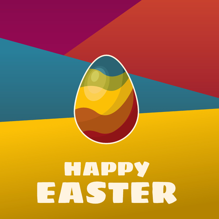 Happy Easter background with colorful egg.