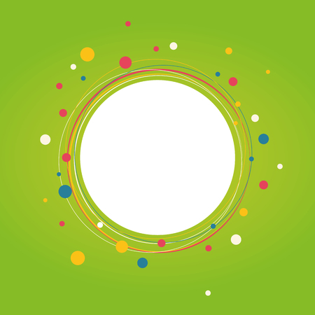 Spring abstract circle background. Vector illustration.