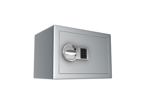 cg safe with an electronic lock isolated on white background