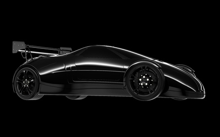 concept car isolated on a black background Stock Photo - 10684973