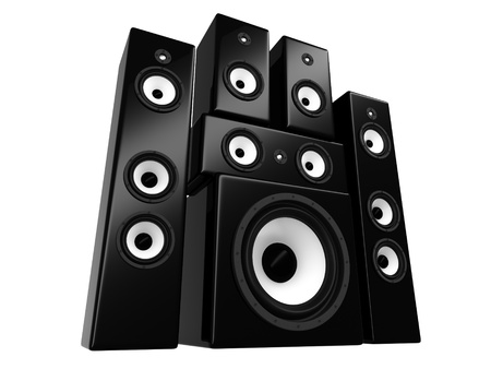 sub woofer: spekers isolated on a white background