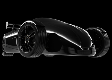 conceptcar isolated on a black background