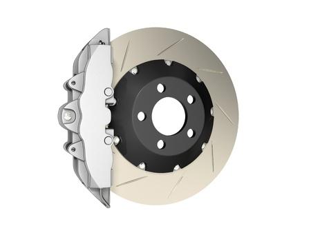 frenos: disco de freno aislado en un fondo blanco