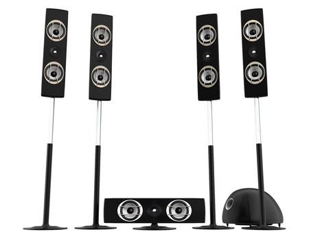 speaker box: surround speakers Stock Photo