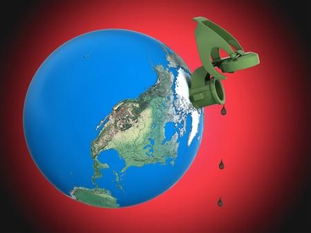 earth as a jerrycan Stock Photo - 10776620