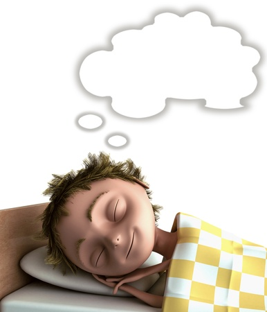 cg sleeping kid