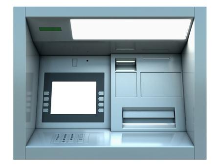 cash dispenser: Cg cash dispenser isolated on white Stock Photo